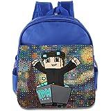 The Diamond Minecart DAN TDM Children Hisper Backpack School Bag