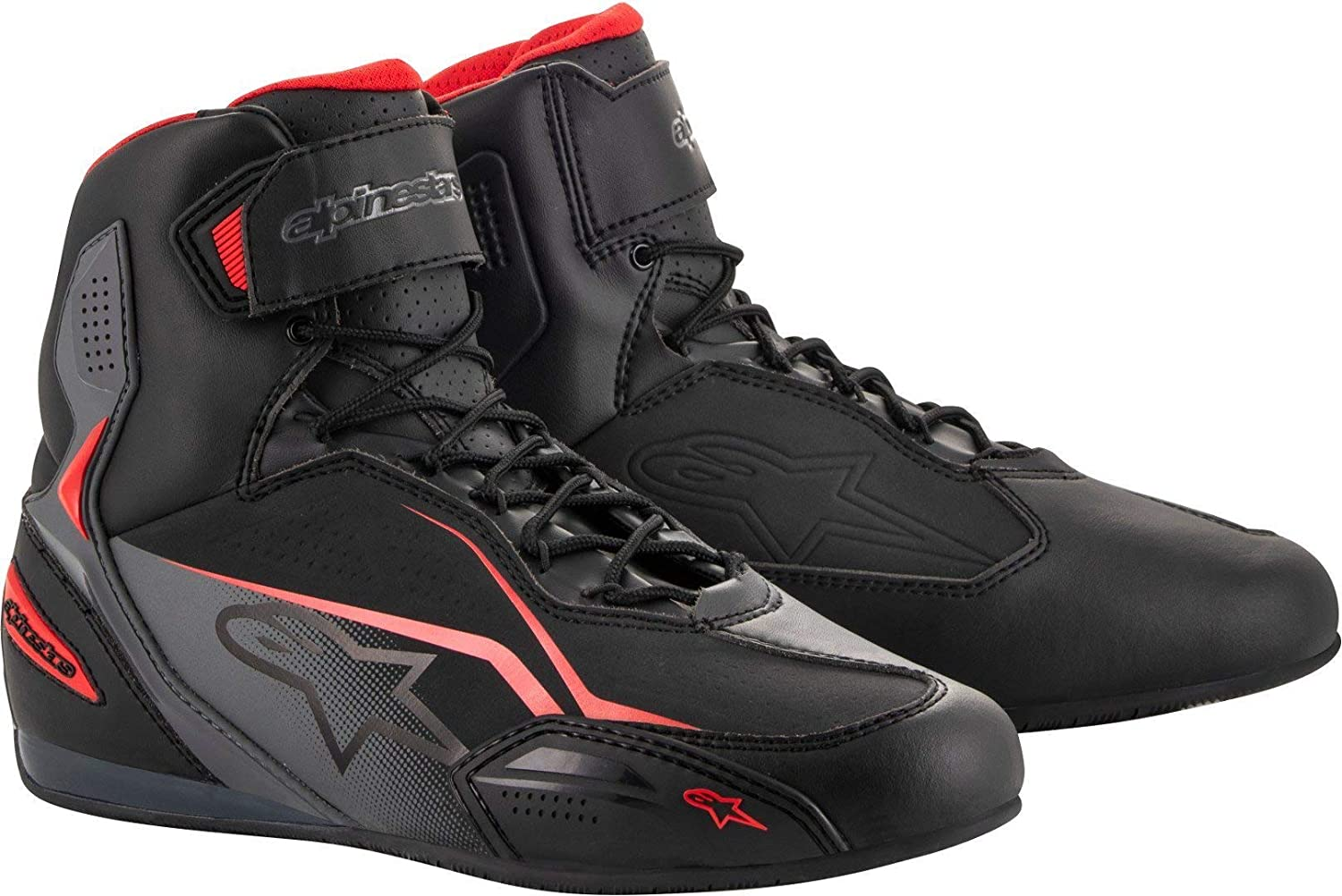 9.5, Black//Gray//Red Alpinestars Faster-3 Shoes