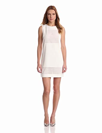 Funktional Women's Image Cut Dress, White DPI, Large