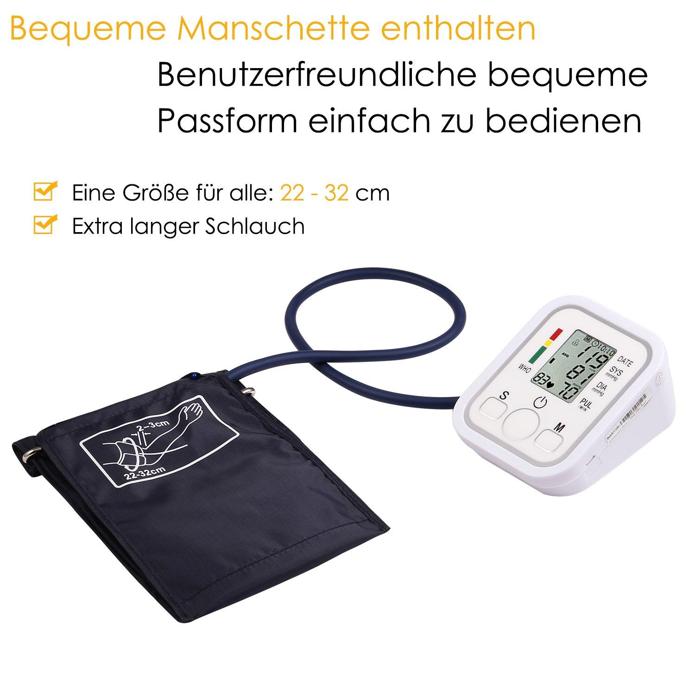 yivans ZK de 869b brazo Tensiómetro vollautomatische presión arterial y pulso Función de advertencia cuando la arritmias.: Amazon.es: Salud y cuidado ...