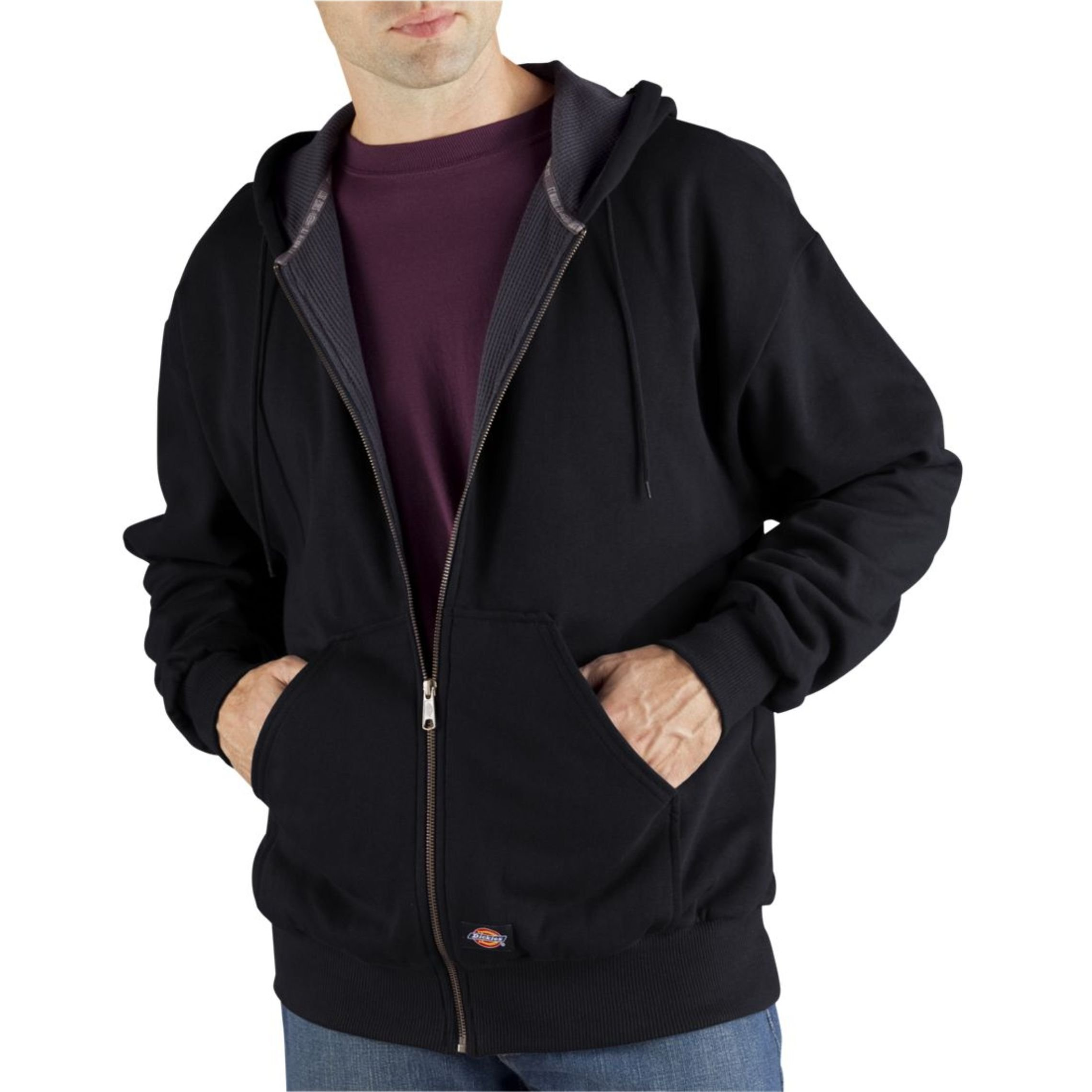 Dickies Men's Thermal Lined Fleece Jacket, Black, XX-Large by Dickies