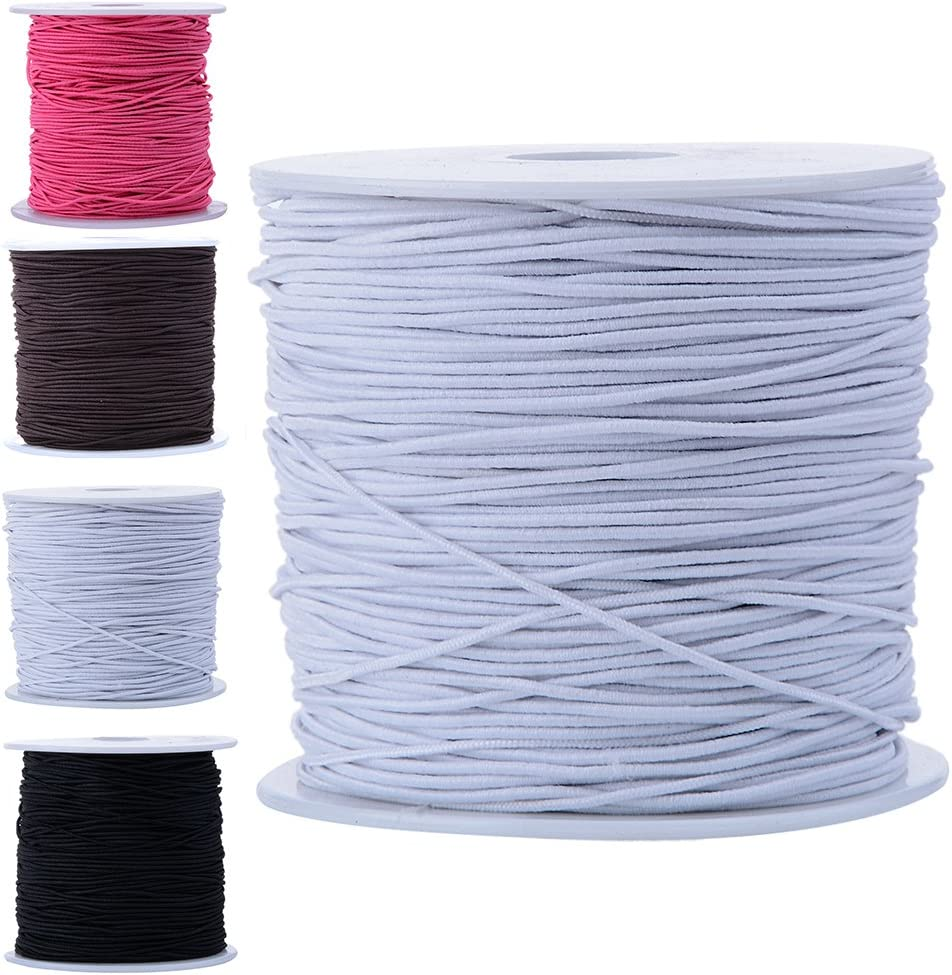 Amazon Com Bingcute 1 0mm White Beading Elastic Cord 100 Yard