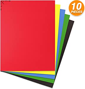 Emraw Poster Board Sturdy Office Multicolor Blanks Sheets Sign Scrapbooking Blank Graphic Display Board Durable for Arts and Crafts Projects Blank Board 5 per Pack (Pack of 2)