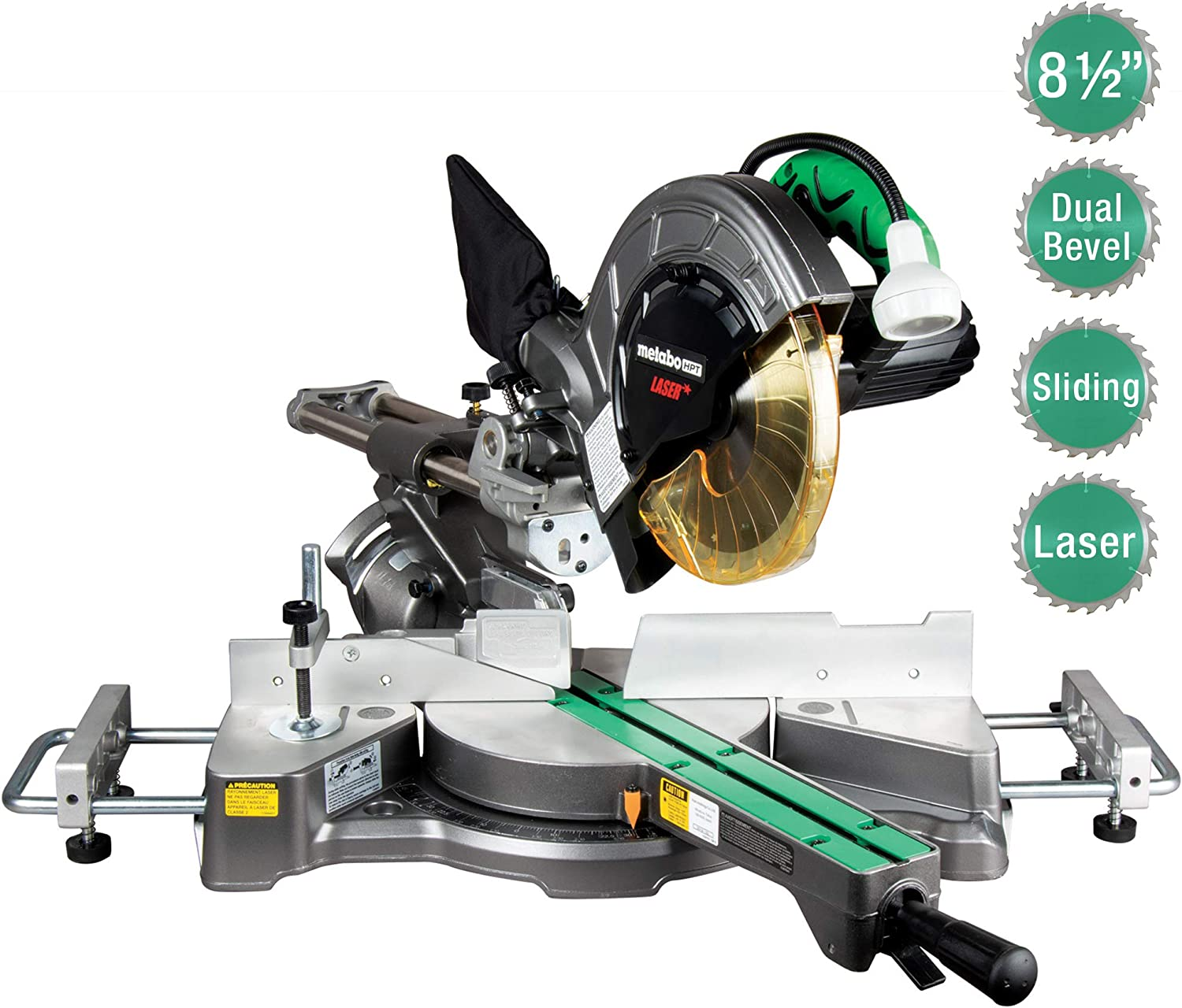 "Metabo HPT C8FSHES 8-1/2"" Sliding Compound Miter Saw"