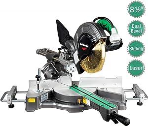 """Metabo HPT 8-1/2"""" Sliding Compound Miter Saw, Laser Marker, LED Light, 9.5 Amp Motor, Adjustable Pivot Fence, 5 Year Warranty (C8FSHES)"""