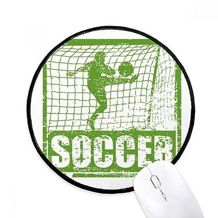 DIYthinker Resultados de Fútbol del jugador portería de fútbol Ronda antideslizante tapetes de ratón Negro Titched