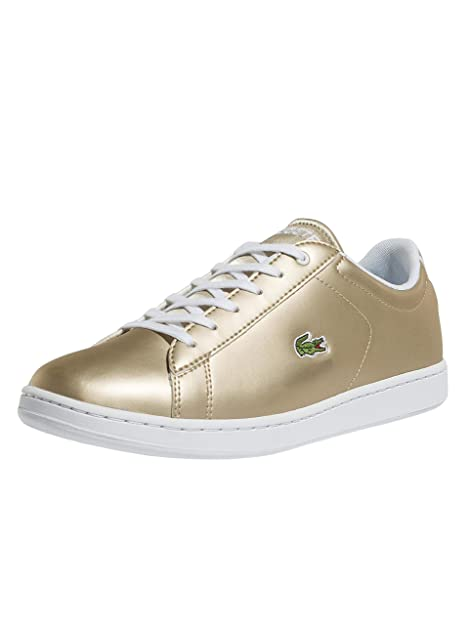 16d9ce545 Lacoste Junior Gold White Carnaby EVO 218 1 Sneakers-UK 4  Amazon.ca ...