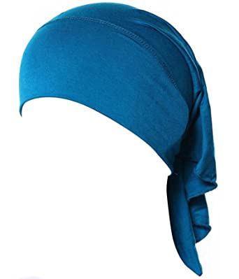 05c9e396c2ce I VVEEL Women Under Scarf Cap Bone Bonnet Hijab Islamic Head Cover Muslim  Hat Blue Lake One Size  Amazon.co.uk  Clothing