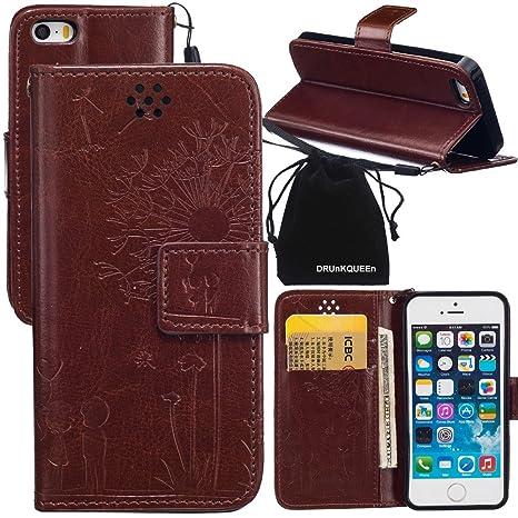 Amazon.com: drunkqueen iPhone se caso, iPhone 5s Caso ...