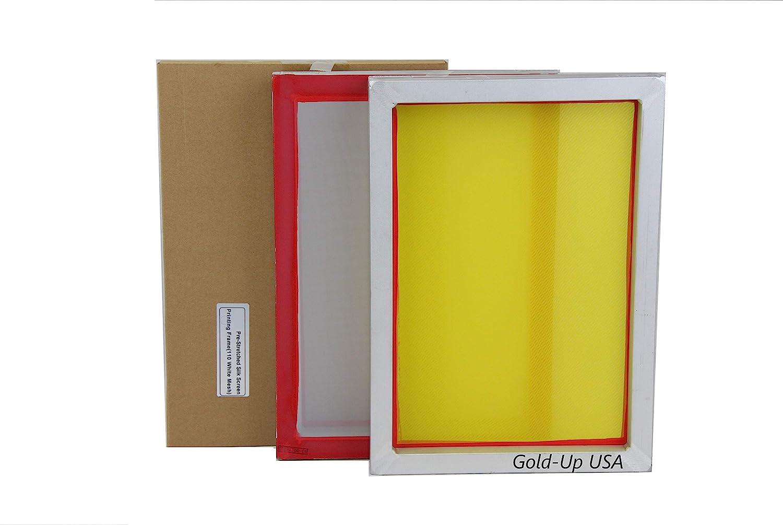 Aluminum Screen Printing Screens, Size 10 x 14 Inch Pre-Stretched Silk Screen Frame (160 White Mesh)