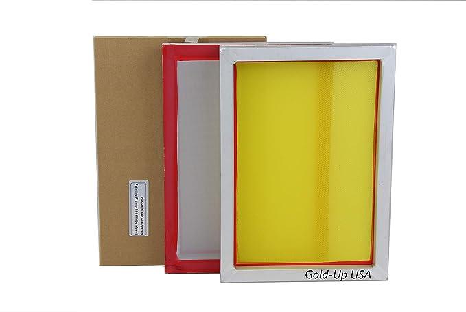 INTSUPERMAI 6pc 23Inch*31Inch Aluminum Silk Screen Frame with 110 Mesh White Pre-Stretched Silk Screen Printing Frame