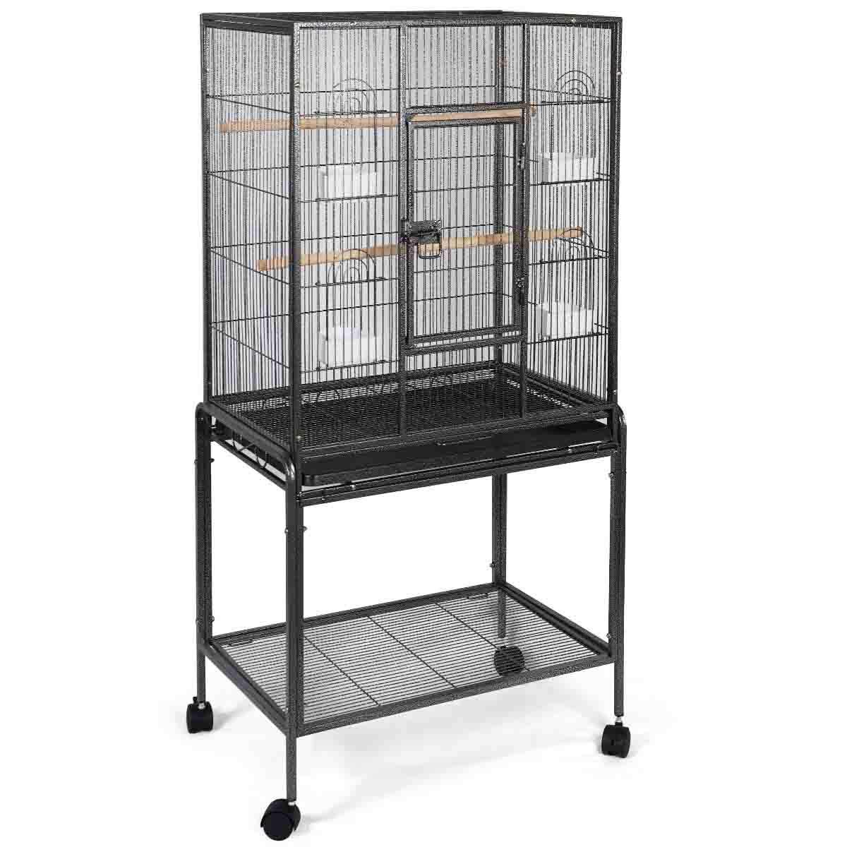 Giantex Bird Parrot Cage Chinchilla Cockatiel Conure Large Cockatiel House Metal Wheels PS5340New