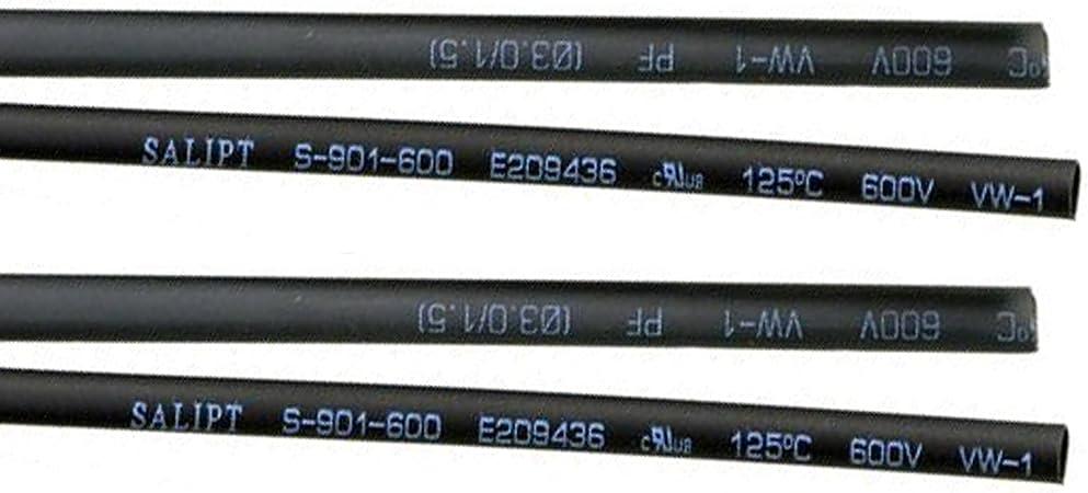 MadridGadgetStore/® Tubo Funda Termorretr/áctil Termoretractil 2 mm 2mm 1,5 Metros Negro Poliolefina Drone Heat Shrink Tubing Sleeving