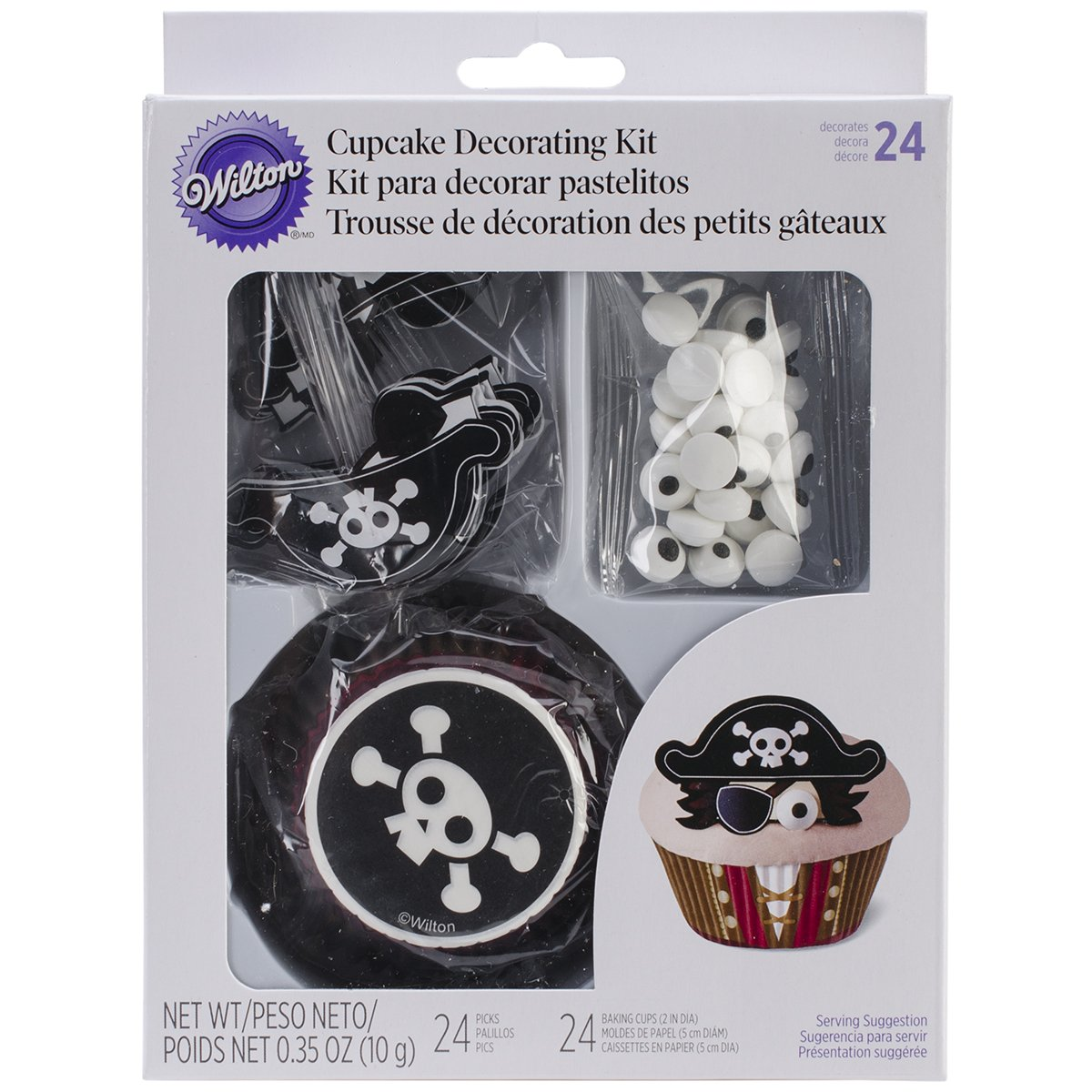Wilton 415-2194 Pirate Cupcake Decorating Kit
