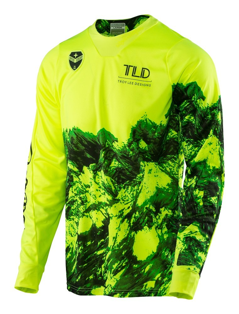 Troy Lee Designs 2017 SE Gravity Jersey-Flo Yellow-XL