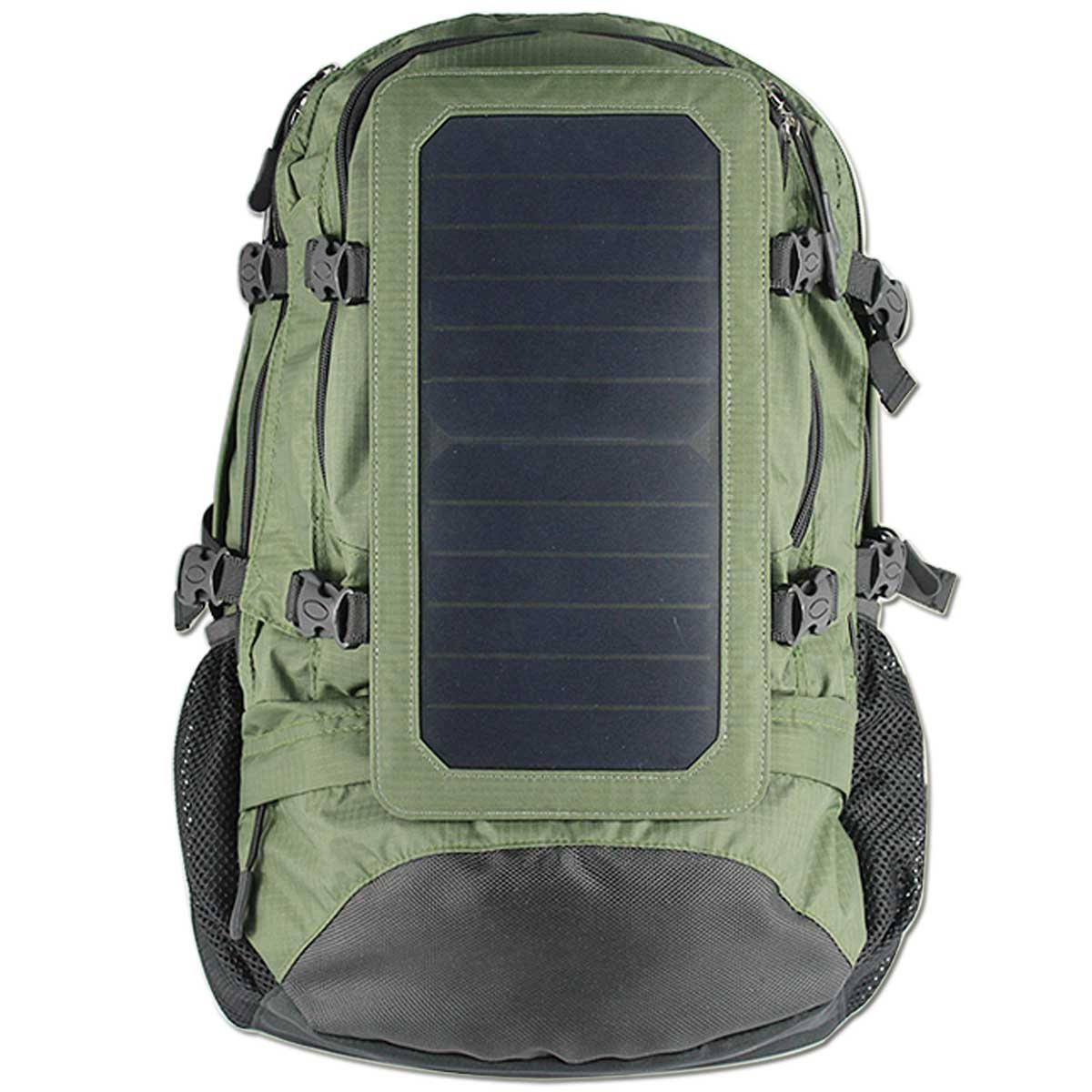 Renepv Solar Backpack, 7 Watt Solar Panel Charge for Smart Cell Phones and Tablets, GPS, eReaders, Bluetooth Speakers, Gopro Cameras