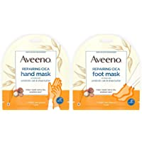Repairing CICA Foot Mask&Hand Mask with Prebiotic Oat and Shea Butter, for Extra...