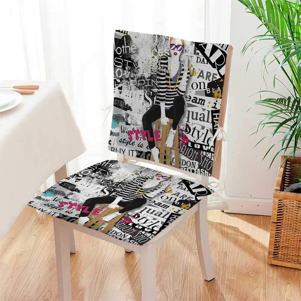 Amazoncom Mikihome Premium Chair Cushion Decor Model Posing And