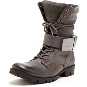 J75 by Jump Mens Strong Round Toe Mid-Calf Lace-Up Military Boot