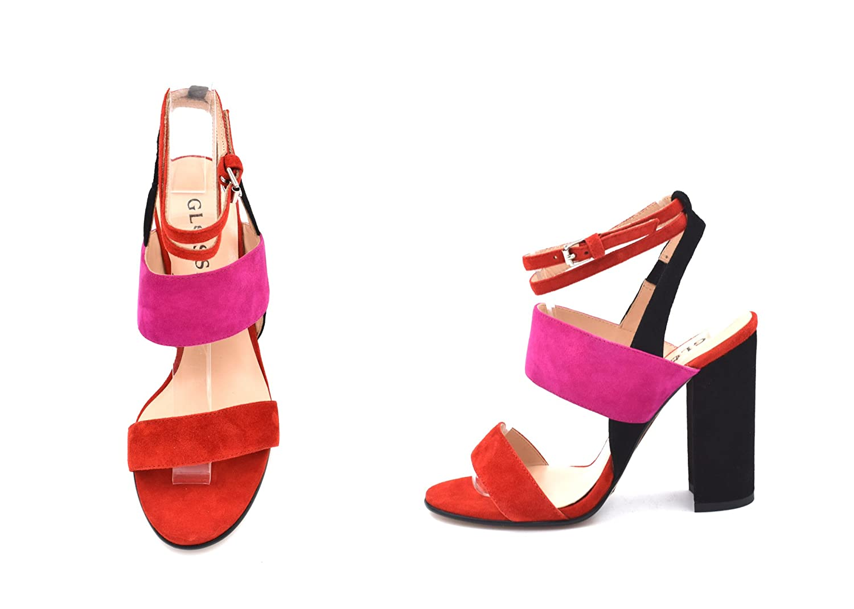 35d19a2596b06 Amazon.com: SARA Classy Red And Pink Elegant unique Chic Stiletto ...