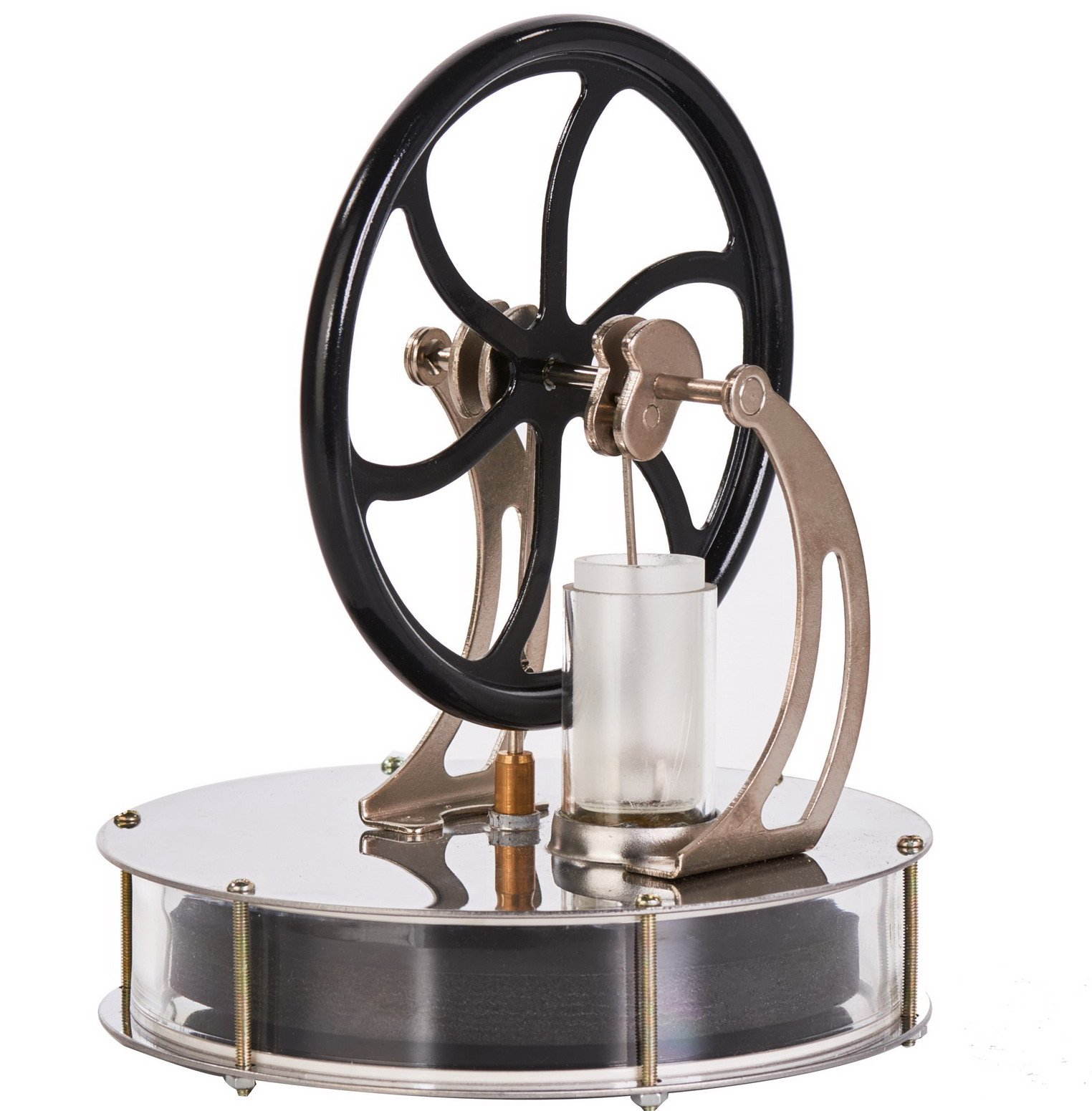 Sunnytech Low Temperature Stirling Engine Motor Steam Heat Education Model Toy Toy Great Gift for Boyfriend or Girlfriend, Parents, Kids (LT003)