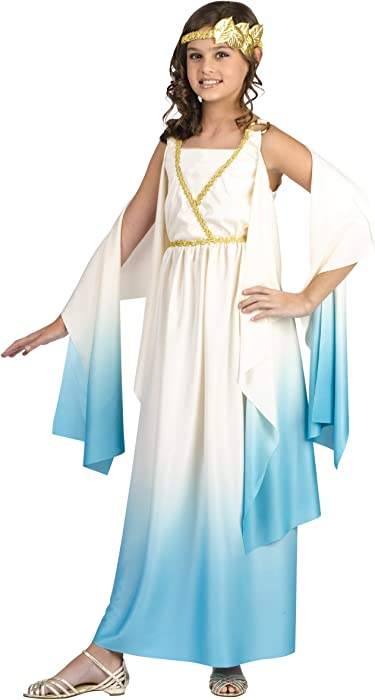 Amazon Com Fun World Greek Goddess Child Costume Small 4 6 Toys