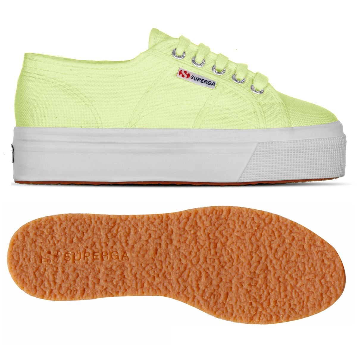 Superga and Damen Acotw Linea Up and Superga Down Sneaker Sunny Lime 492c98