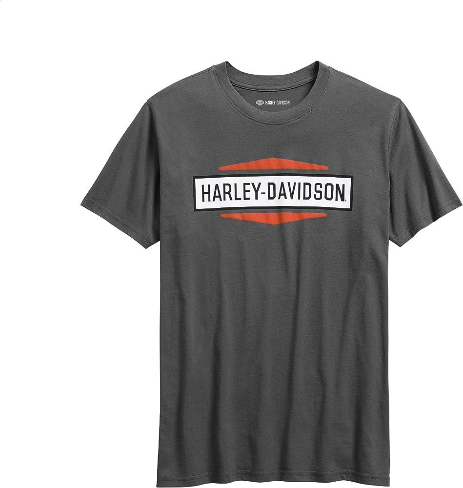 HARLEY-DAVIDSON Playera para Hombre con gráficos Apilados, Ajustada, Color Gris - Gris - Large: Amazon.es: Ropa y accesorios