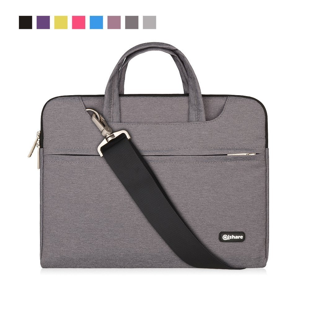 Qishare 13 13.3 14 pouces Bleu multifonctionnel portatif mince ordinateur portable sac à bandoulière porte-documents ordinateur portable mallette de poche ultrabook netbook mallette de transport tablette / ordinateur portable / Chromebook / Macbook / Messe