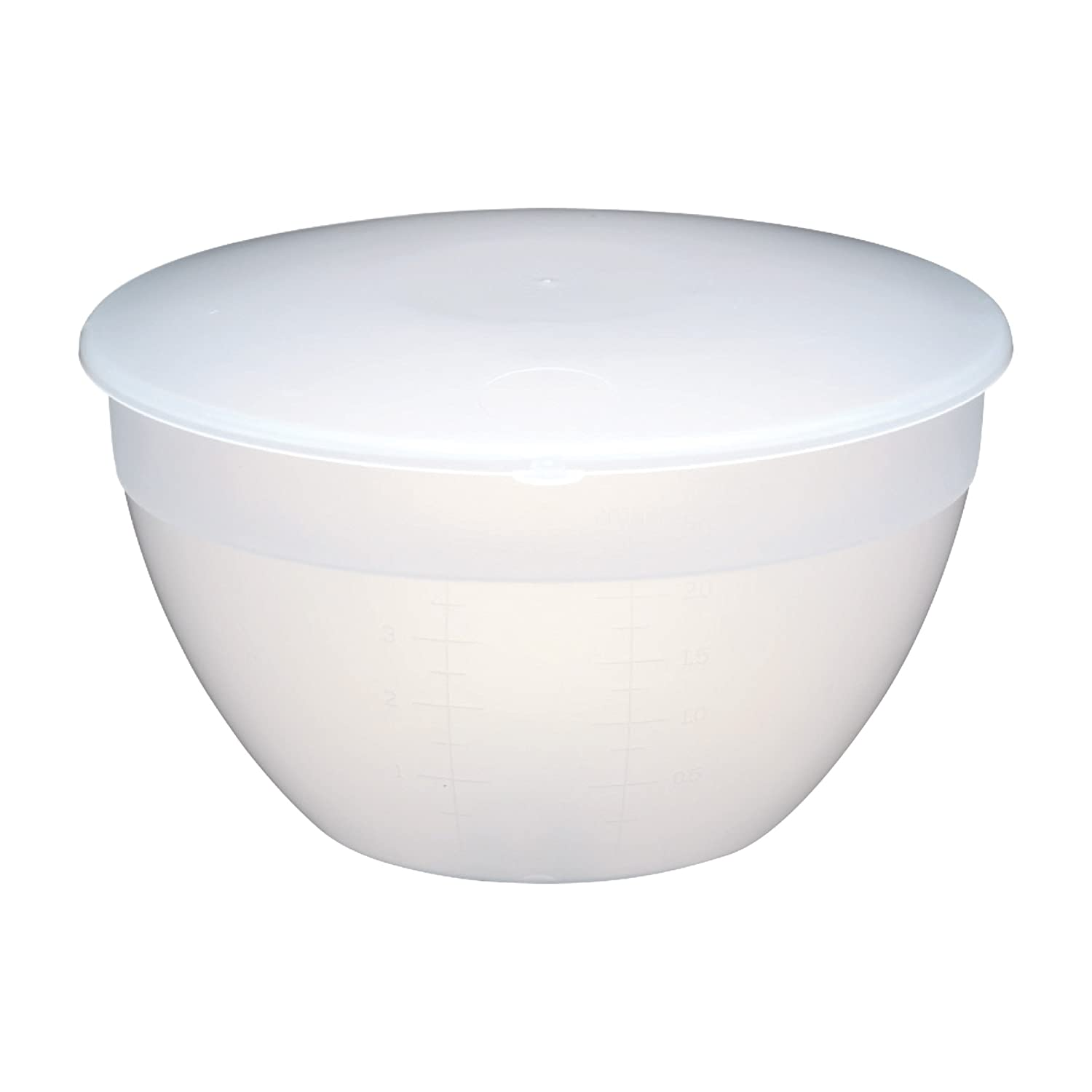 KitchenCraft Medium-Large Plastic Pudding Basin with Lid, 1.1 Litres (2 Pints) Kitchen Craft KCPUD2
