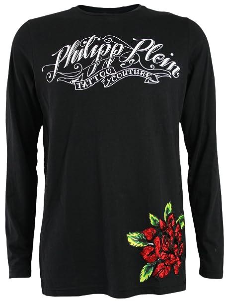 Philipp Plein Hombre Diseñador Manga Larga Shirt Camisetas - PIRATE GIRLS -XL: Amazon.es: Ropa y accesorios
