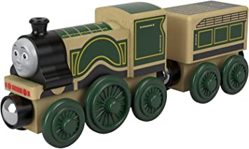 Thomas & Friends FHM44 Wood Emily, Thomas the Tank Engine Wooden Toy Engine, Toy Train, 3 Year Old