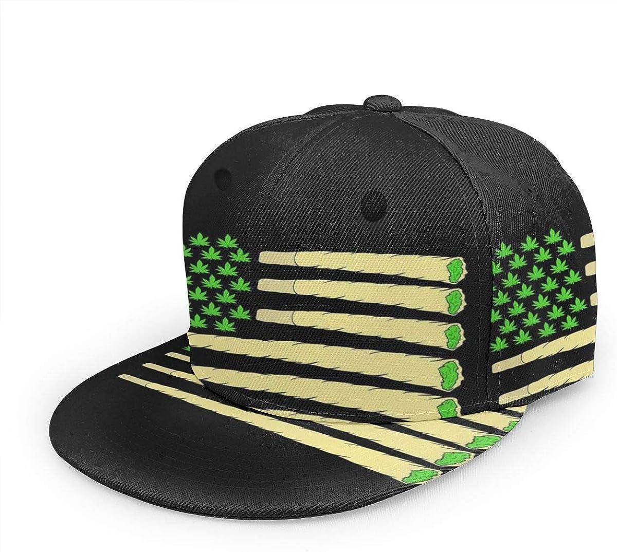RUIP Gorra de béisbol ajustable unisex bandera americana, marihuana, marihuana, marihuana, cannabis 3D, a cuadros, sombreros de camionero, gorra deportiva para hombres y mujeres, color negro