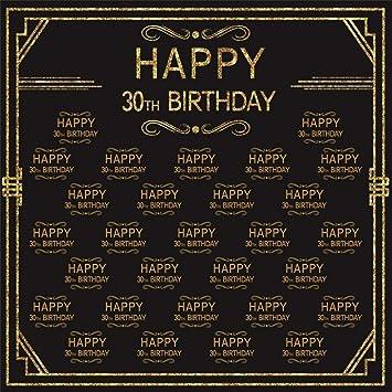 EdCott 8x8ft Shiny 30th Birthday Telón de Fondo Fotos Hombre ...