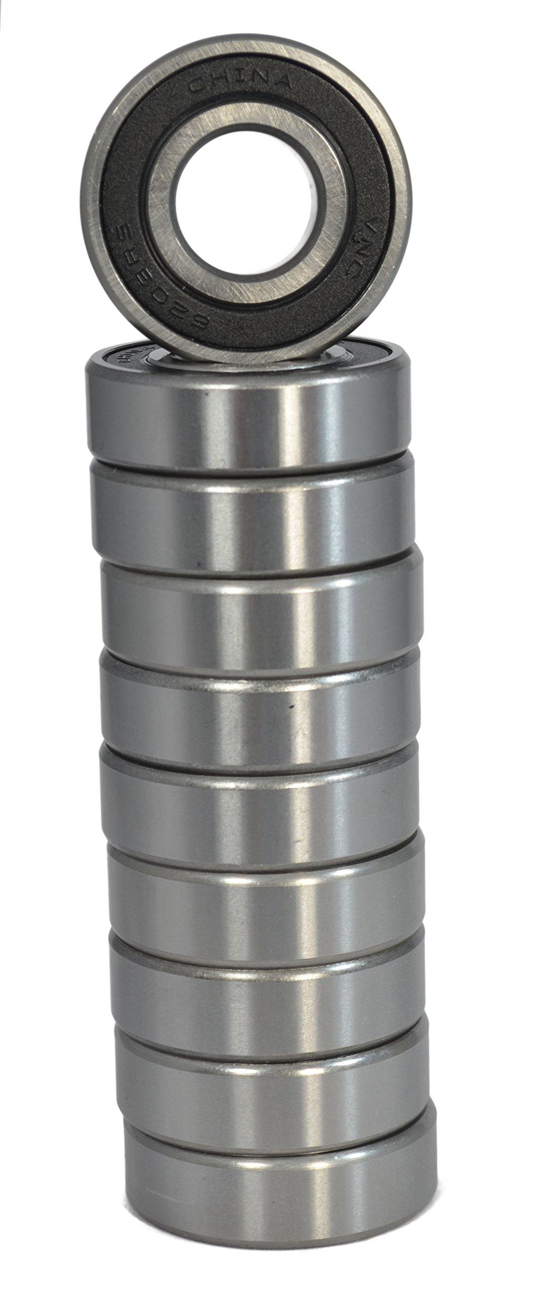 R4-2RS (1/4''x5/8''x0.196'') C3 Premium Sealed Radial Ball Bearing 10 pack
