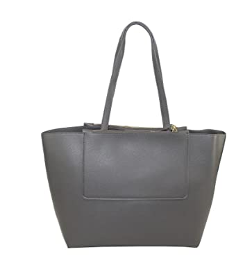 3fcb8262e12ba Bellevory eleganter Damen Shopper Handtasche (grau)  Amazon.de  Schuhe    Handtaschen