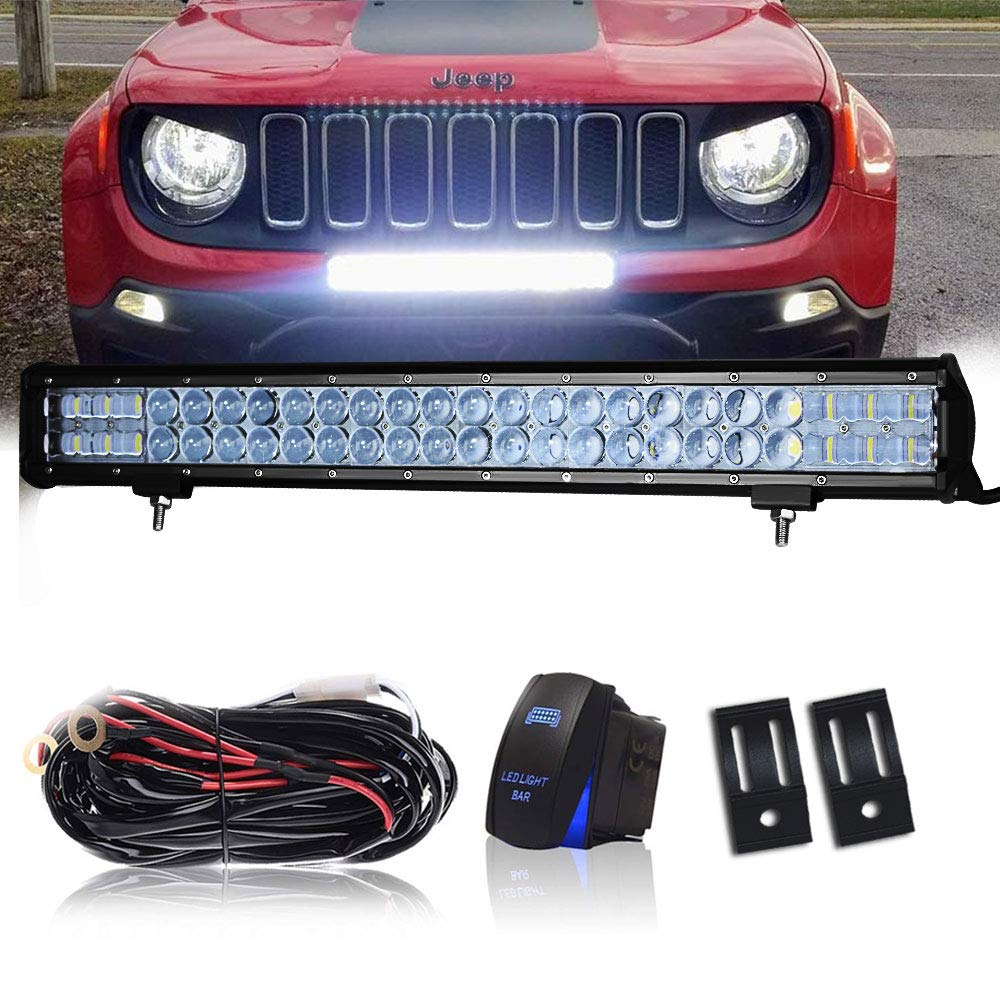 New Grill For Jeep Wrangler Jk Top Deals Lowest Price Wire Harness On Hood Dot 23 Inch 144w Led Light Bar Combo Windshield Bumper 1x