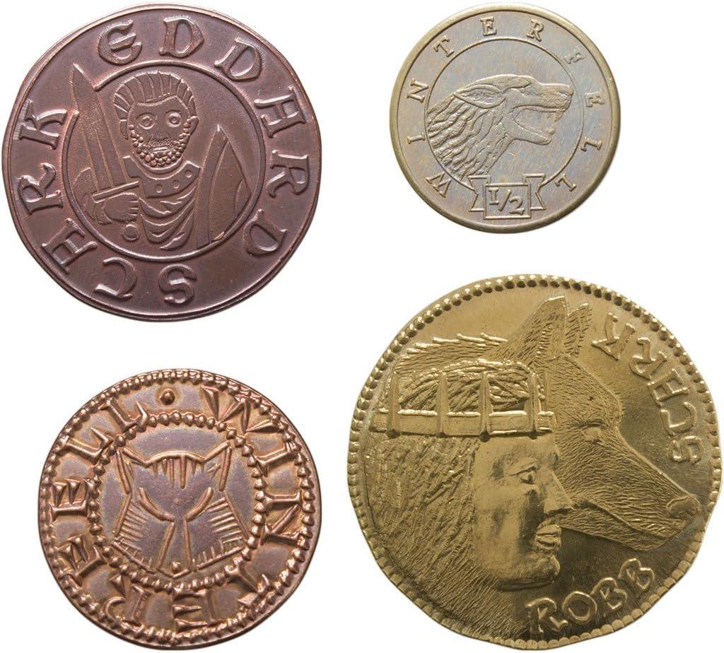 SPMI-GM-ST-HS4 The Shire Post Juego De Tronos Set 4 Monedas Casa Stark Multicolor