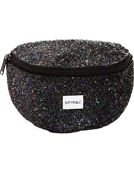 b25dcd1ac637 Spiral Black Stardust Bum Bag Riñonera de Marcha, 24 cm, 3 Liters ...