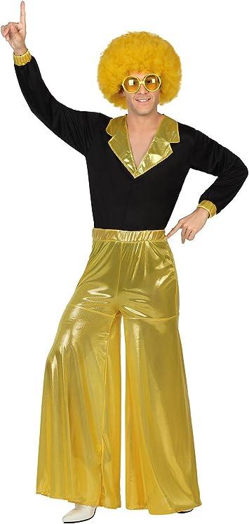 Atosa-26386 Disfraz hombre disco, color dorado, M-L (26386 ...
