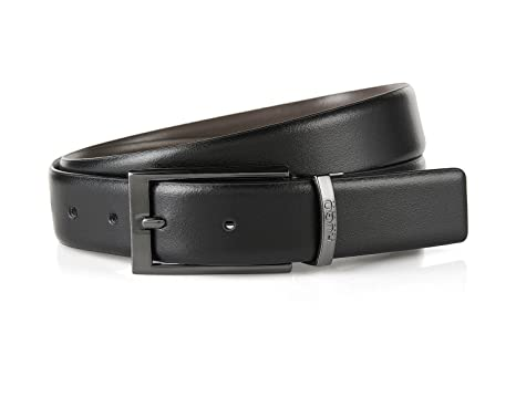 f5df5024d82 Boss Hugo Boss Men's Elvio-U Revirsible Leather Belt, Black/grey (36