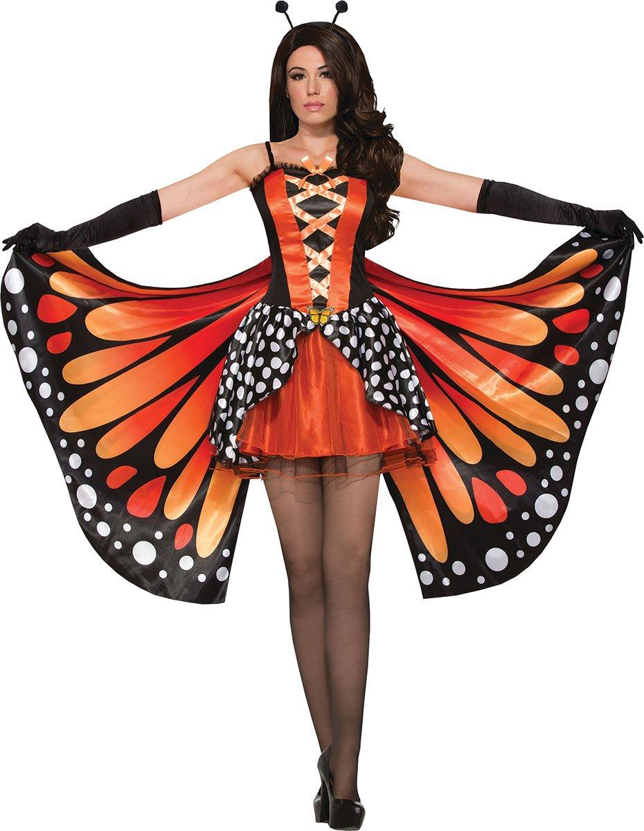 Damen Verkleidung Kostümparty Tier Miss Monarch Schmetterling Kostüm UK Größe 10-12
