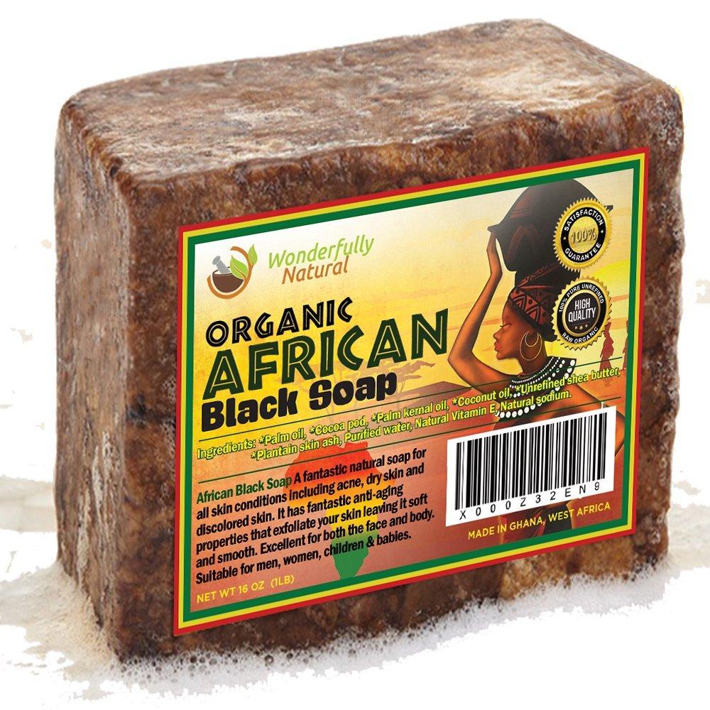 #1 Organic African Black Soap - 1Lb (16Oz) Best For Acne Treatment Eczema Dry.. 18