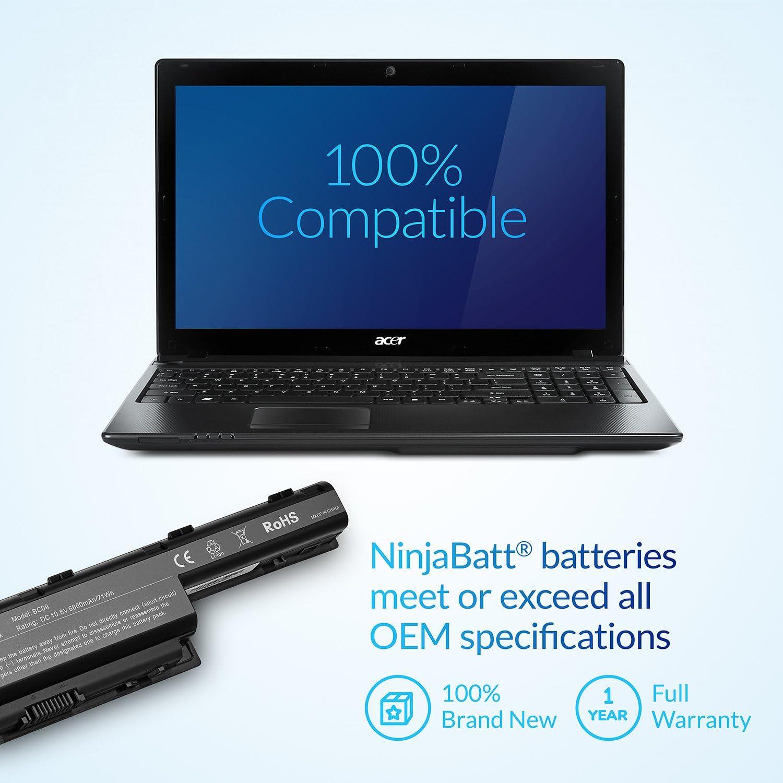 Amazon.com: NinjaBatt 9 celdas batería para portátil ACER ...