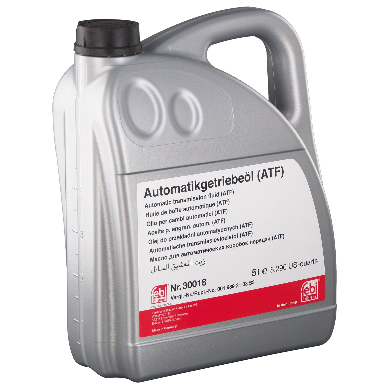 febi bilstein 30018 automatic transmission fluid (ATF) for autom. transmission, converter and hydraulic steerings - Pack of 1
