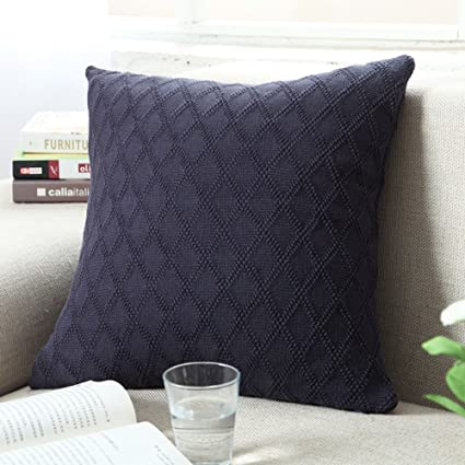 Amazon Douh Cable Knitted Pillow Case Cushion Cover Decorative