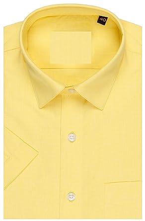 6ef23d7ca3d Sai Hosiery men s Cotton Shirt (SH001 XXL Yellow)  Amazon.in  Clothing    Accessories