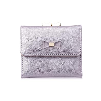 b5a803808b8e HITSAN INCORPORATION Unishow Cute Bow Wallet Women Small Female Purse Brand  Lock Designer Ladies Wallet Mini