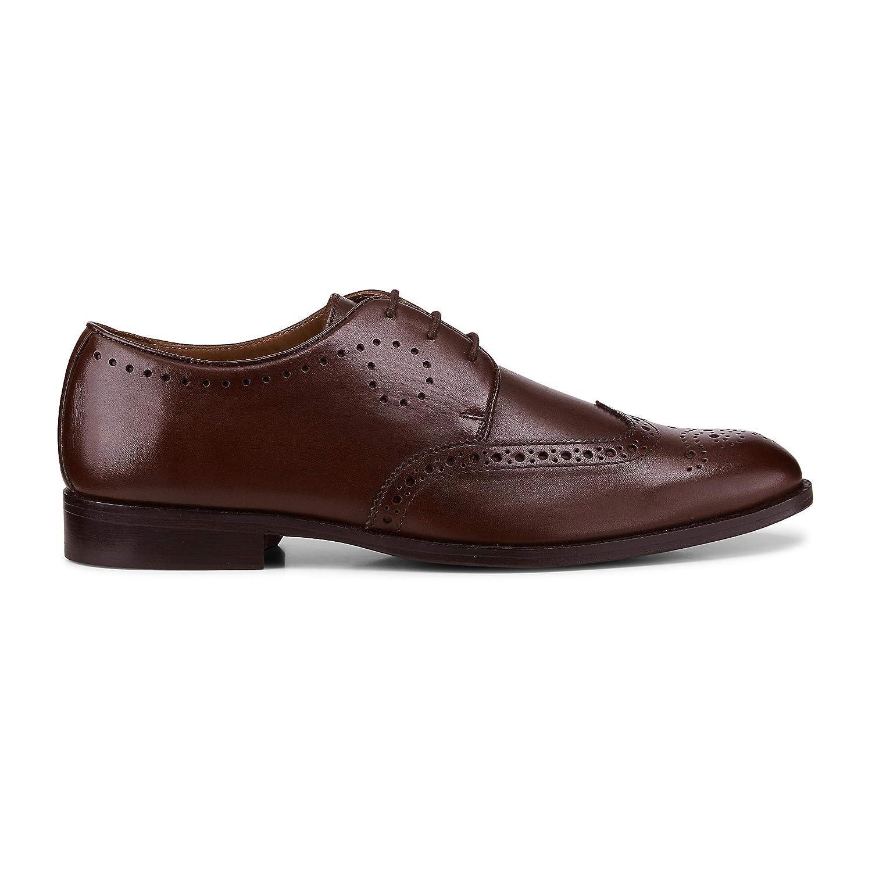 Belmondo Herren Herren Business-Schnürschuh aus Leder, Derby-Schnürer in Braun mit eleganter Laufsohle B07MWJ56QZ  | Billiger als der Preis