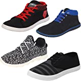 Earton Men Combo Pack of 4 (Casual Sneakers With Sports Shoes)